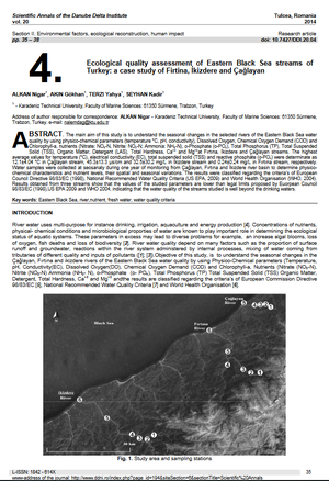 Cover of Ecological  quality  assessment  of  Eastern  Black  Sea  streams  of  Turkey: a case study of Firti na, İkizdere and Çağlayan