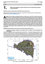Maps of the topography of water surface levels in the Danube Delta, between the main branches